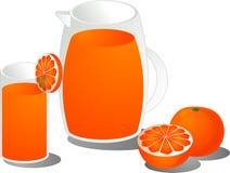 Ilustración del zumo de naranja libre illustration