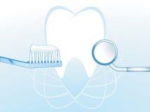 Ilustración dental de la higiene   Imagen de archivo