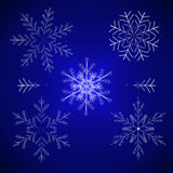 Ilustración determinada del invierno del copo de nieve libre illustration