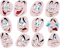 ilustración determinada del vector de la cara Foto de archivo libre de regalías