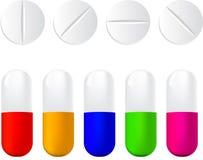 Ilustración determinada del vector del icono de las píldoras Imagen de archivo libre de regalías