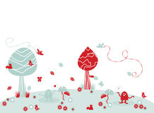 Ilustración divertida del paisaje Libre Illustration