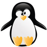 Ilustración divertida del pingüino stock de ilustración