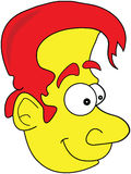 Ilustración divertida pelada amarillo de la historieta del hombre Libre Illustration