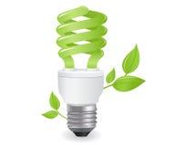 Ilustración ecológica de las bombillas stock de ilustración