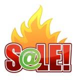 Ilustración en línea del texto de la venta de fuego Fotografía de archivo libre de regalías