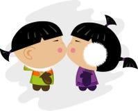 Ilustración esquimal del beso Fotos de archivo libres de regalías