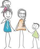 Ilustración feliz de la familia Fotos de archivo