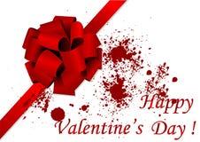 Ilustración feliz del día de tarjeta del día de San Valentín stock de ilustración