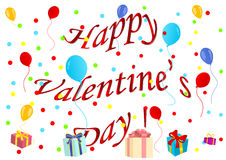 Ilustración feliz del día de tarjeta del día de San Valentín libre illustration