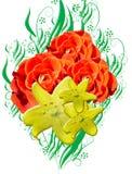 Ilustración floral Imágenes de archivo libres de regalías