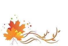 Ilustración floral brillante del otoño Foto de archivo libre de regalías