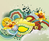Ilustración floral de la fantasía Foto de archivo libre de regalías