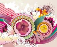 Ilustración floral de la fantasía Fotografía de archivo