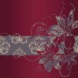Ilustración floral de la vendimia frame Fotografía de archivo libre de regalías
