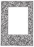 Ilustración floral de lujo del vector del marco del filagree