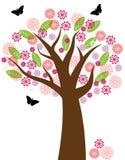 Ilustración floral del árbol Imagen de archivo libre de regalías
