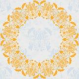 Ilustración floral del círculo ornament Foto de archivo libre de regalías