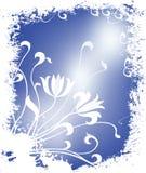Ilustración floral del invierno ilustración del vector