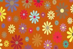 Ilustración floral del oro Fotografía de archivo