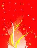 Ilustración floral del vector Imagen de archivo