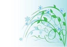 Ilustración floral en azul claro Imagen de archivo libre de regalías