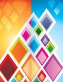Ilustración geométrica de las texturas Fotos de archivo