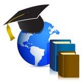 Ilustración global del diseño de concepto de la educación Imágenes de archivo libres de regalías