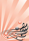 Ilustración gráfica del festival de música, vector Foto de archivo