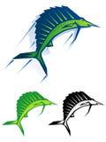 Ilustración gráfica del pez volador ilustración del vector