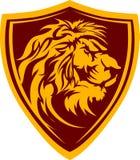 Ilustración gráfica principal de la mascota del león Fotos de archivo libres de regalías