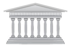 Ilustración griega del vector de la bóveda Fotos de archivo