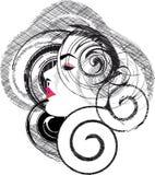 Ilustración hermosa de la mujer Imagenes de archivo