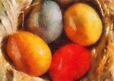 Ilustración; huevos de Pascua atractivos libre illustration