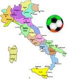 Ilustración italiana del balompié Imagen de archivo libre de regalías