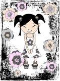 Ilustración japonesa de la muchacha Imagen de archivo