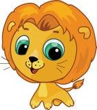 Ilustración linda de la historieta del león ilustración del vector