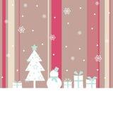 Ilustración linda de un muñeco de nieve Imagen de archivo libre de regalías