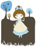 Ilustración linda del azul y del chocolate Fotografía de archivo libre de regalías