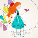 Ilustración linda del otoño Imágenes de archivo libres de regalías