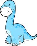 Ilustración linda del vector del dinosaurio Foto de archivo libre de regalías