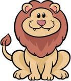Ilustración linda del vector del león Fotografía de archivo libre de regalías