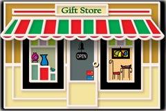 Ilustración local del almacén de regalo imagen de archivo