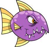 Ilustración mala del vector de los pescados Foto de archivo