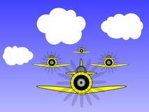 Ilustración militar de los aeroplanos de la vendimia Foto de archivo