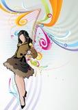 Ilustración modelo del vector de la muchacha Fotografía de archivo libre de regalías