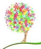 Ilustración moderna de un árbol del verano stock de ilustración