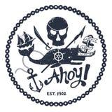 Ilustración náutica de la vendimia Fotografía de archivo