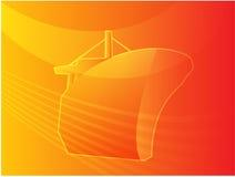 Ilustración naval del transporte de la nave Imágenes de archivo libres de regalías