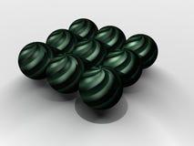 Ilustración negra de las bolas Imagen de archivo libre de regalías
